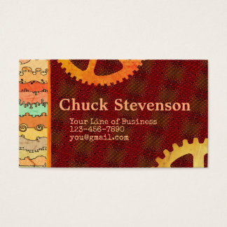 Customize Both Sides Amber Canyonlands and Gears Business Card