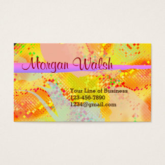 Customize both sides of Fiesta Watercolor Business Card