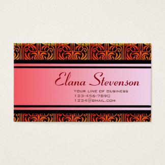 Customize both sides of Lavender Nouveau Business Card