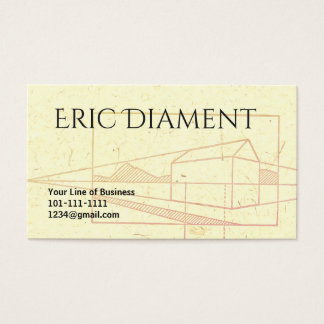 Customize both sides of Perspective Drawing Business Card