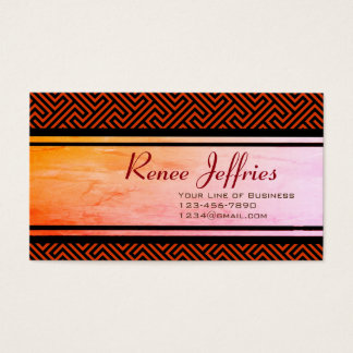 Customize both sides of Red Argos Meander Business Card