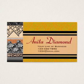 Customize both sides of Waves and Amber Business Card