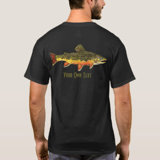 Customize Brook Trout Fly Fishing Angler T-Shirt