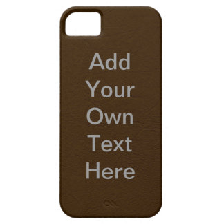 Customize Brown Leather iPhone 5 Cover