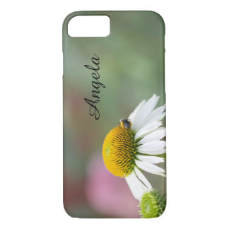 Customize - Busy Bee on Flower Black Text iPhone 7 Case
