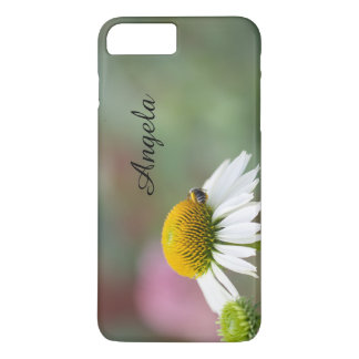 Customize - Busy Bee on Flower Black Text iPhone 7 Plus Case