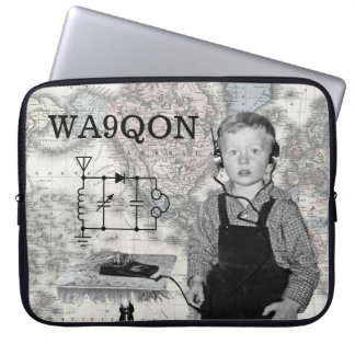 Customize Call Letters Radio Boy Laptop Sleeve