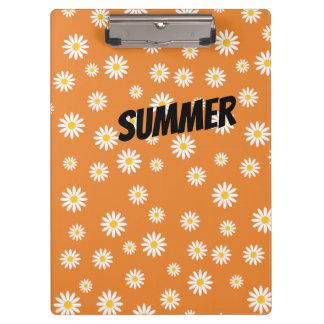 Customize Camomile Flowers Clipboard