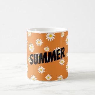 customize camomile flowers coffee mug
