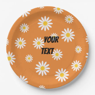 Customize Camomile Flowers Party Paper Plate