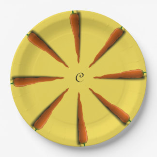 Customize Carrots Party Paper Plate