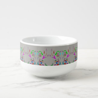 CUSTOMIZE COLOR ABSTRACT MUSE ART PRINT SOUP MUG