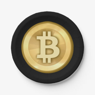 Customize Cool Bitcoin Paper Plate