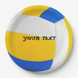 Customize Cool Volleyball Party Paper Plate