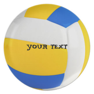 Customize Cool Volleyball Party Plate