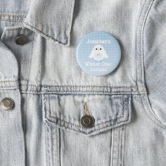 Customize Cute Birthday Boy Winter Onederland Owl 2 Inch Round Button