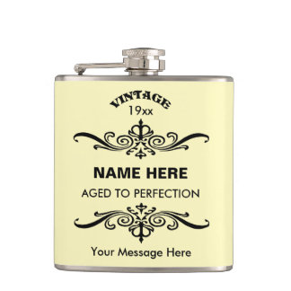 Customize cute birthday flasks
