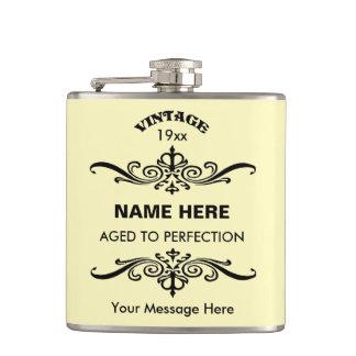 Customize cute birthday hip flask