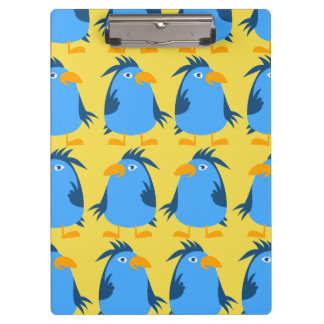 Customize Cute Blue Bird Clipboard for Kids
