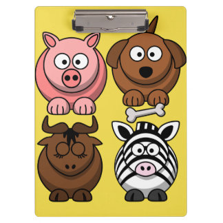 Customize Cute Child Animals Clipboard for Kids