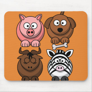 Customize Cute Child Animals Mouse Pad