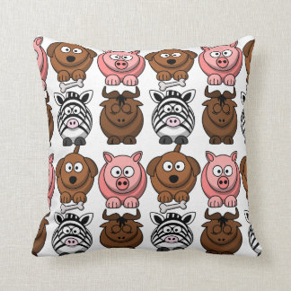 Customize Cute Child Animals Throw Pillow