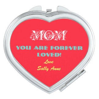 Customize Cute Compact Mirror For Mother's Day