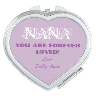 Customize Cute Compact Mirror For Nana