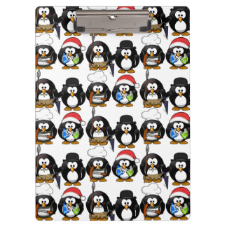 Customize Cute Penguins Clipboard for Kids