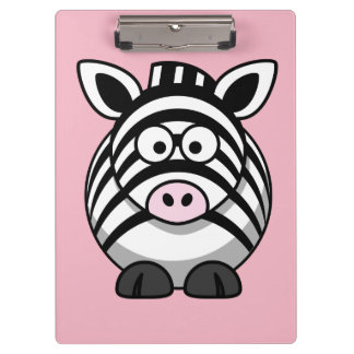 Customize Cute Zebra Clipboard