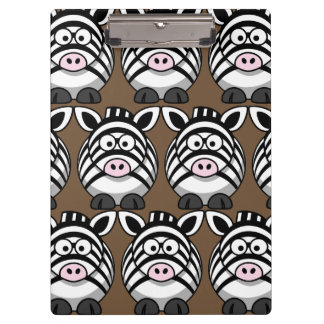 Customize Cute Zebra Clipboard