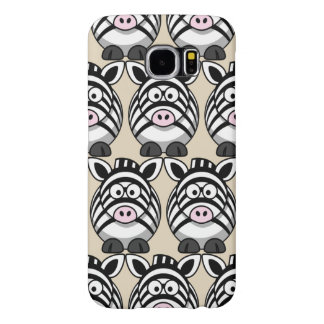 Customize Cute Zebra Samsung Galaxy S6 Cases