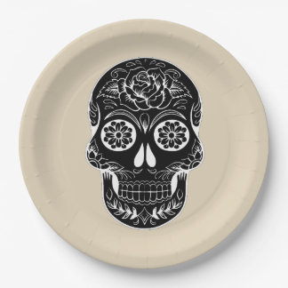 Customize Day of the dead skull Party Plate