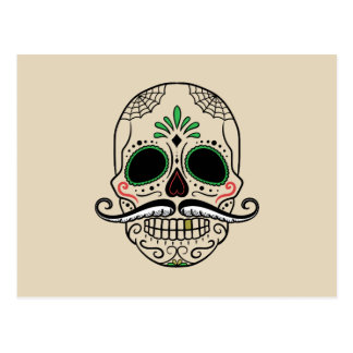 Customize Day of the dead skull postcard