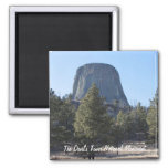 Customize Devil's Tower National Monument photo Square Magnet