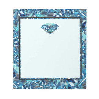 Customize Diamond anniversary themed gifts, party Notepad