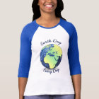 Customize Earth Day Every Day blue sparkles Globe T-Shirt