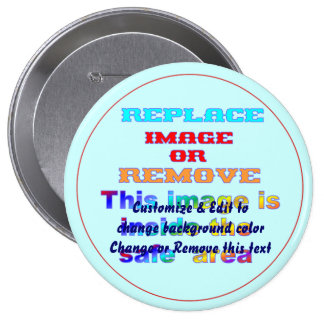 Customize & Edit to change background color Change 4 Inch Round Button