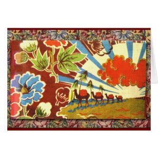 Customize Exotic Caravan and Sunrise Card