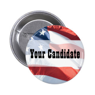 Customize For Any Cause - American Flag Button