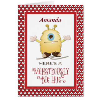 Customize for Any Relation, Babysitter Monster Hug Card