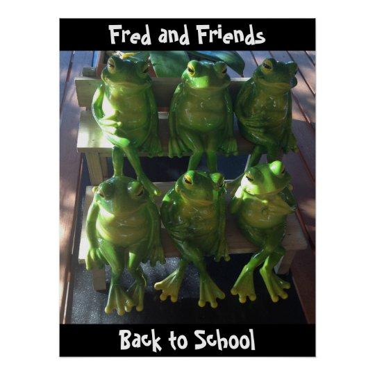 Customize frog poster Back to School