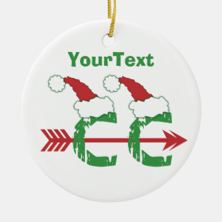 CUSTOMIZE Funny Christmas © Cross Country 1-sided Round Ceramic Ornament