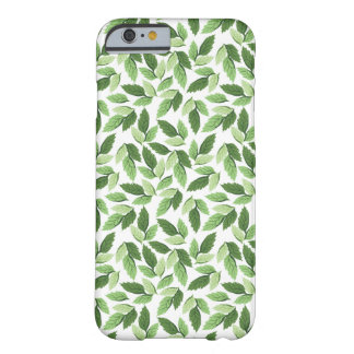 Customize Green Leaf Pattern Barely There iPhone 6 Case