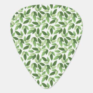Customize Green Leaf Pattern Guitar Pick