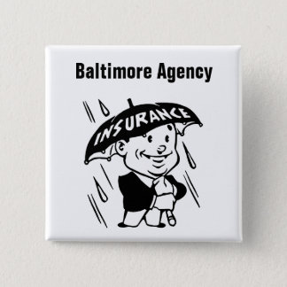 Customize Insurance Agent or Agency 2 Inch Square Button