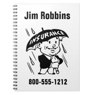 Customize Insurance Agent or Agency 2 Side Notebook