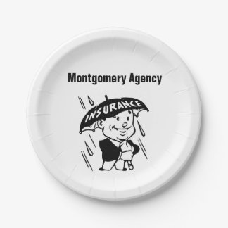 Customize Insurance Agent or Agency Paper Plate