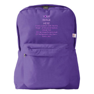 Customize it, American Apparel™ Backpack, Amethyst Backpack