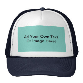 Customize It Cockatoo Green Solid Color Background Trucker Hat